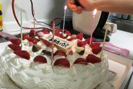 事務所お父さんの誕生日